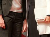 Carla Bruni Michelle Trierweiler, primeras damas Francia blanco negro