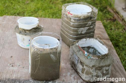 macetas de cemento caseras
