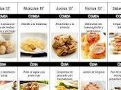 SEMANA Menú mensual Mayo 2012
