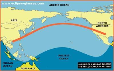 Eclipse anular de Sol ésta tarde, visible zona del Pacífico