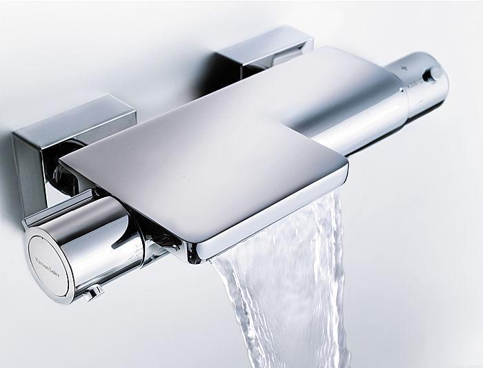 Griferia Vidrio Cascada Para Baño Diseno Elegancia:grifería ecoeficiente, pues provee el sistema Ecoplus de ahorro de