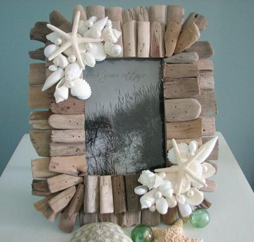 Decora y crea con trozos de madera paperblog - Decorar marcos de madera ...