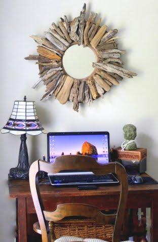 Decora y crea con trozos de madera paperblog for Como hacer un espejo con marco de madera