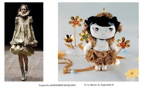 Alexander McQueen inspiration by La Maison de Mageritdoll