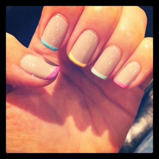 Color French Tip Nails