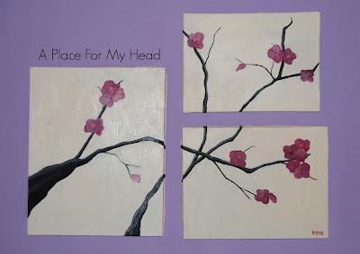 Pintando cerezo en flor