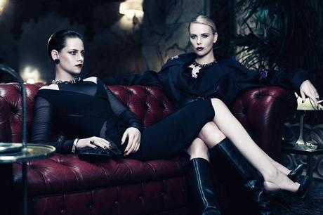 Charlize Theron and Kristen Stewart by Mikael Jansson