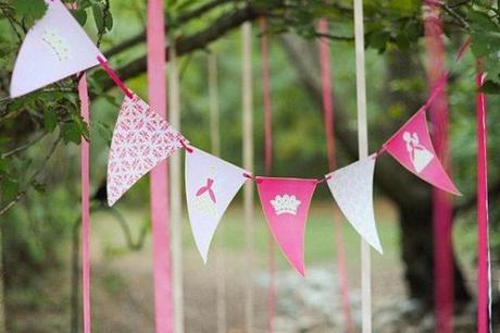 princesas banderines rosas