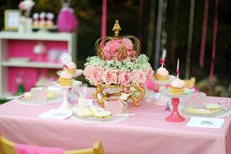 fiesta de princesa rosa