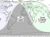 Mapa datos sobre tránsito Venus