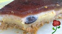 Tarta de cerezas y queso de kefir