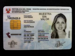 Nuevo Documento electrónico de Identidad para los peruanos, DNI 2.0