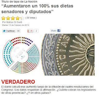 La diferencia salarial entre legisladores argentinos y el pueblo es menor en las provincias no oficialistas