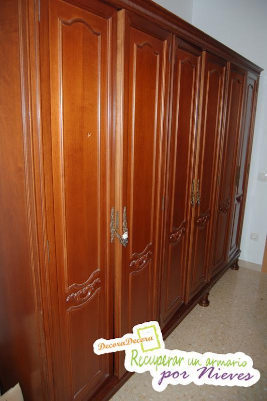 restaurar un armario con pintura