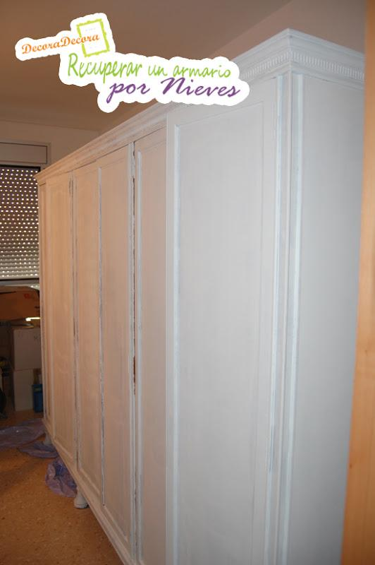 pintar y restaurar un armario
