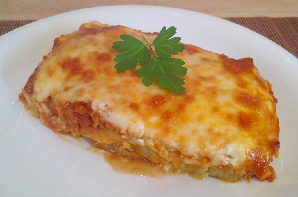 Mousaka con garbanzos