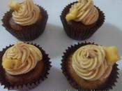 Cupcakes plátano frosting vainilla canela