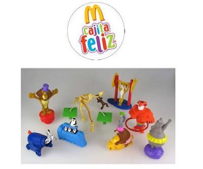 ¡La Cajita Feliz de McDonald's compaña a los personajes de Madagascar 3 en su nueva aventura!