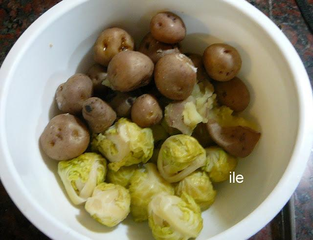 Papines repollitos o coles de bruselas y zanahorias babys - Como cocinar coles de bruselas ...