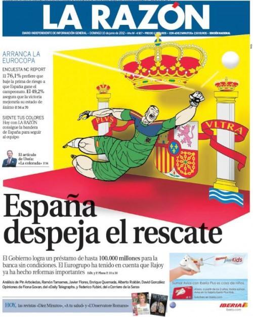 portada del diario La Razon 10 junio 2012