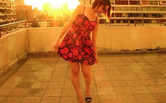 estrenando vestido