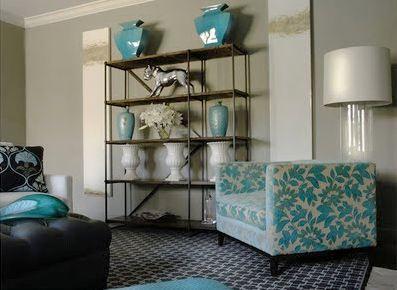 decoracion wengue y azul turquesa
