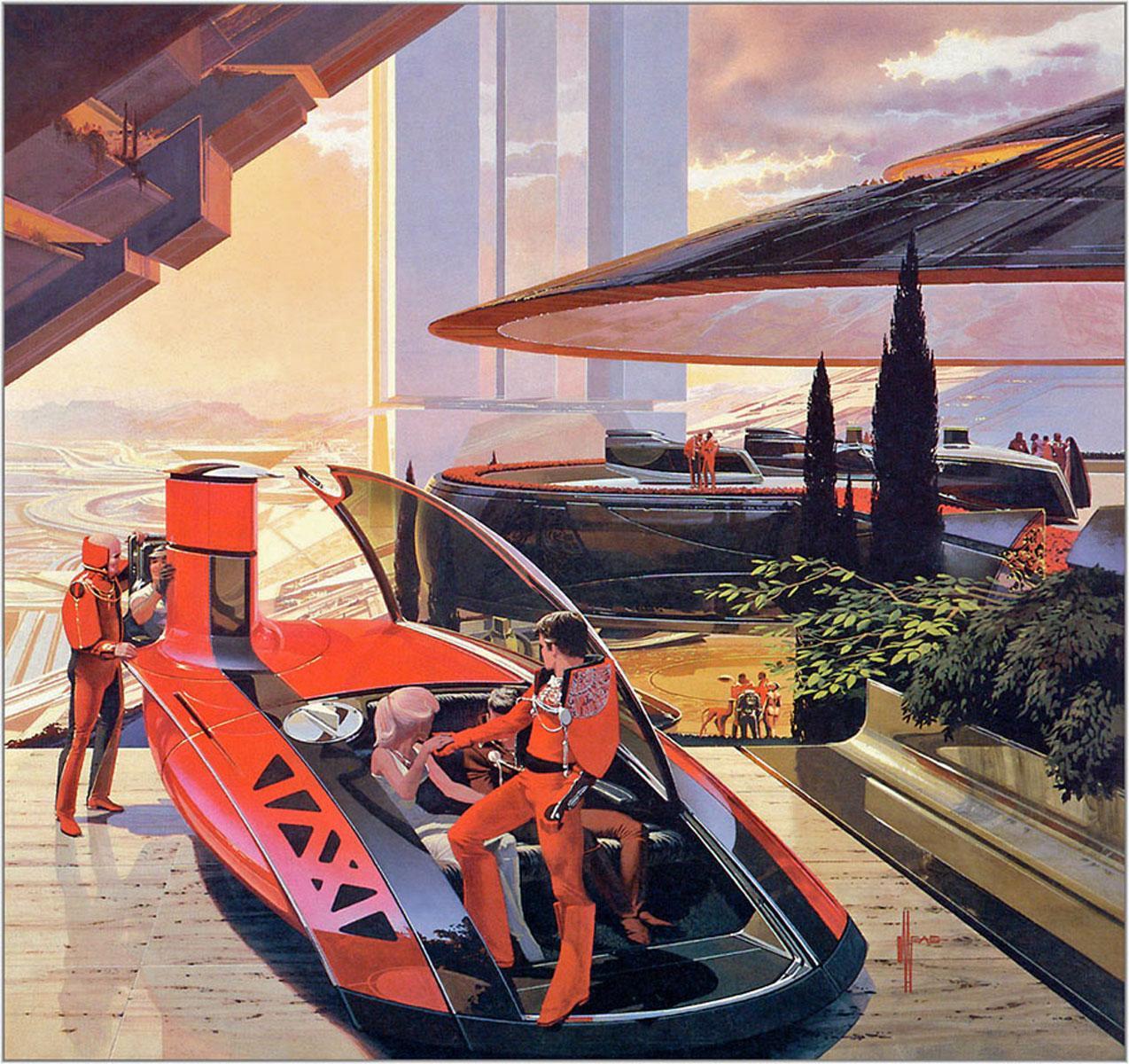 Syd Mead – Diseños conceptuales para US Steel