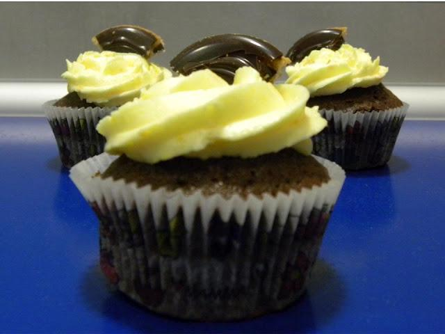 Cupcakes de chocolate y naranja