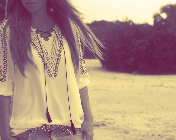 Ethnic tunic from Queen's Wardrobe at the fashion blog of Mónica Sors, fashion blogger based in Cancun, Mexico