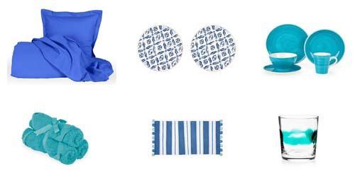 decorar en verano con azul