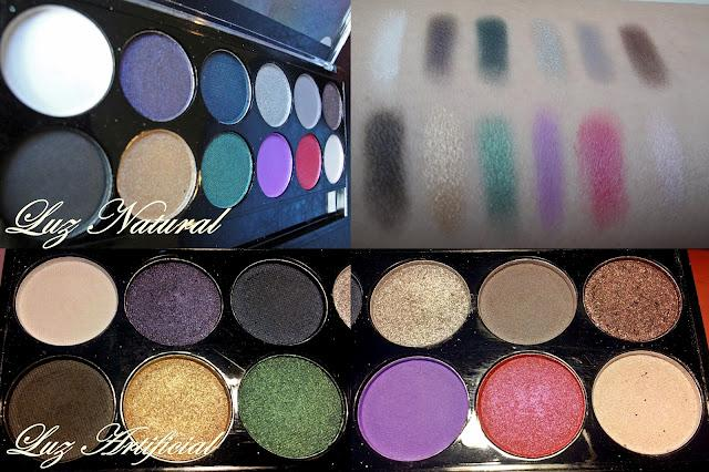 Paletas MUA; Heaven and Earth, Pretty Pastels y Glamour Nights