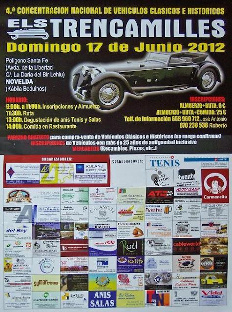 Novelda. IV Concentración Nacional de Vehículos Clásicos e Históricos 2012