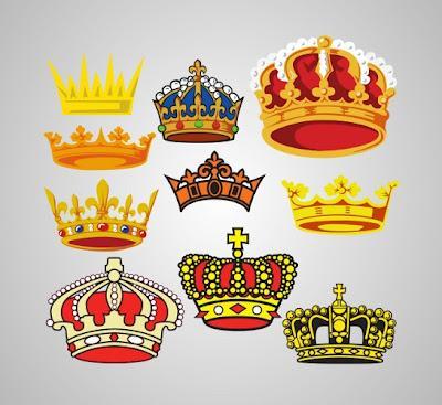 Coronas en vector