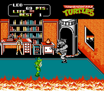 Teenage Mutant Ninja Turtles - Arcade Game (NES)