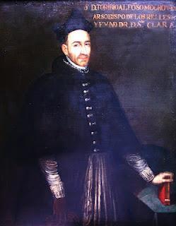 AUTÉNTICO RETRATO DE SANTO TORIBIO MOGROVEJO. Colección Barbosa-Stern (Años 1630-1650)