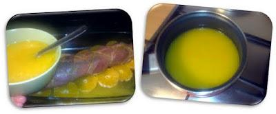 Solomillo relleno en salsa agridulce