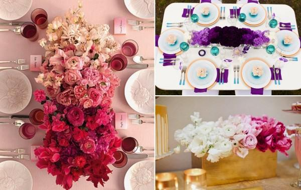 "10 formas de añadir un toque ""ombre"" a tu boda/ 10 ways to give your wedding an ombre touch"