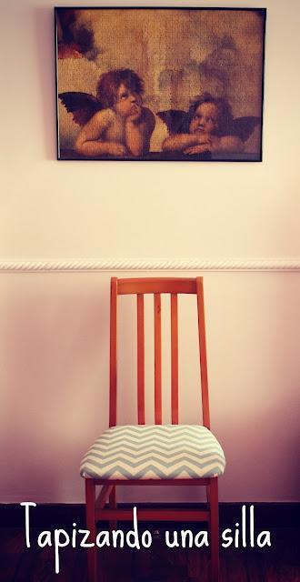 Diy casa tapizando una silla paperblog for Como reformar una casa vieja con poco dinero