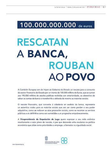 La vicepresidencia de la diputación de Lugo hace propaganda del BNG