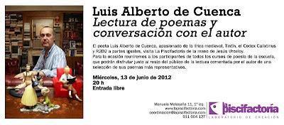 Poetas en la piscifactoría: Luis Alberto de Cuenca, José Luis Morante y Juan Carlos Mestre