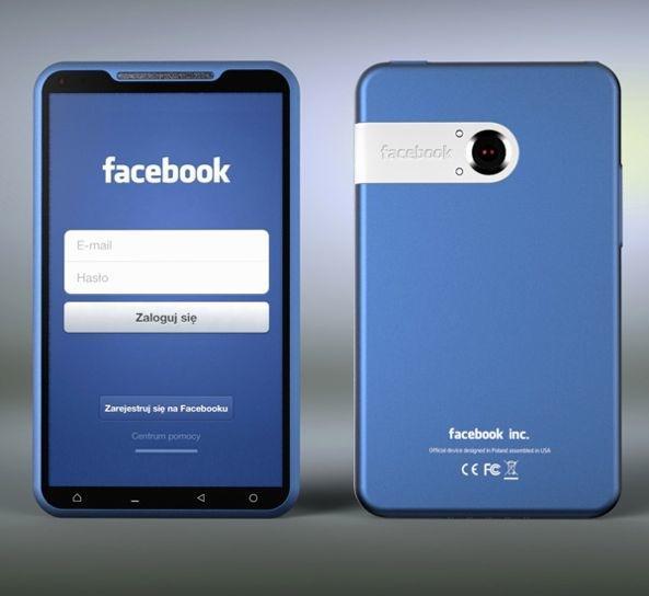 Así luciría el Facebook Phone