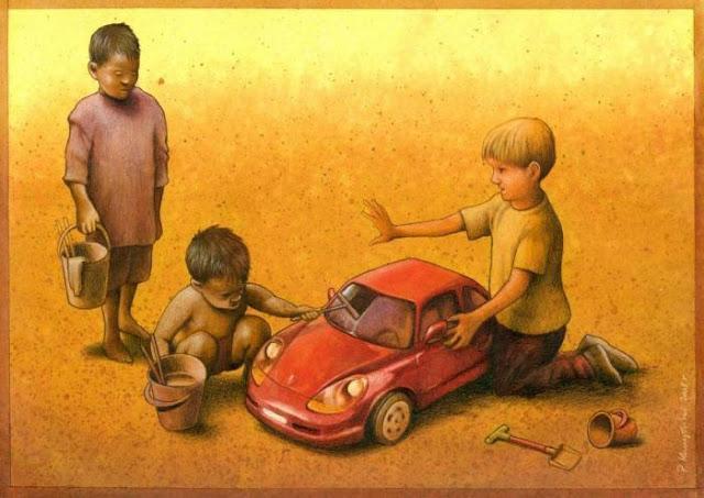 Dibujos de Pawel Kuczynski, artista polaco NACIDO en 1976.