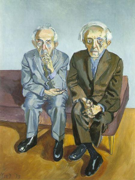 Alice Neel: The Soyer Brothers, 1973