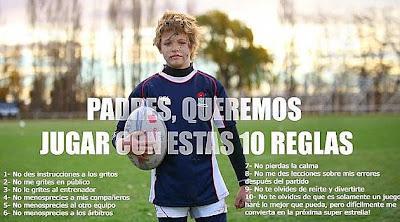 Padres, queremos jugar a rugby con estas 10 reglas