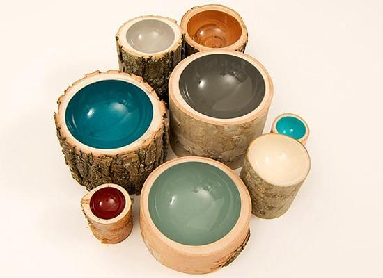 bowl log 5 Bowls Log: Elegancia Rústica