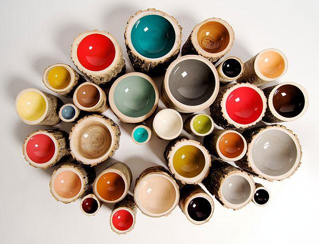 bowl log 1 Bowls Log: Elegancia Rústica