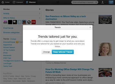 Los Trending Topics de Twitter se basarán en tu localización y las personas que sigues