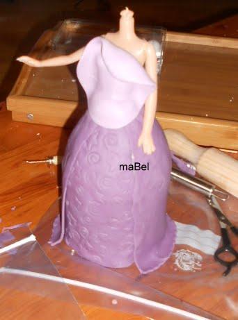 Rapunzel - 3º parte - Vestido y terminación