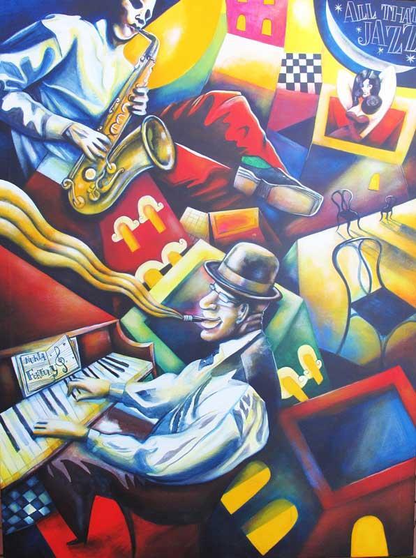 ALL-THAT-JAZZ-de-NURIA-FORTUNY,-130-x-97-cm,-acrylic-on-canvas,-2011