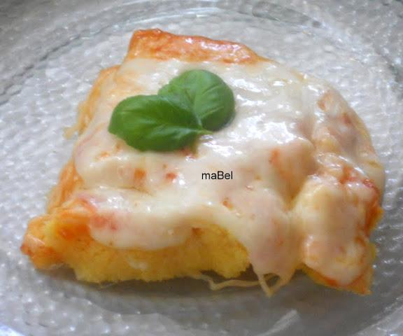 Pizza de harina de maíz - Polenta con queso